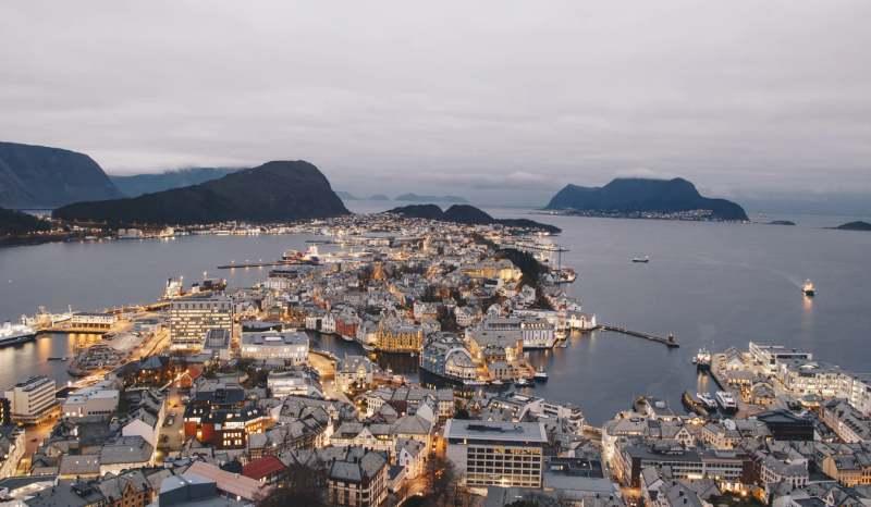 Aksla Viewpoint, Ålesund, Norway